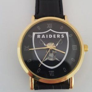 Oakland Raiders NFL Leather Watch NEW